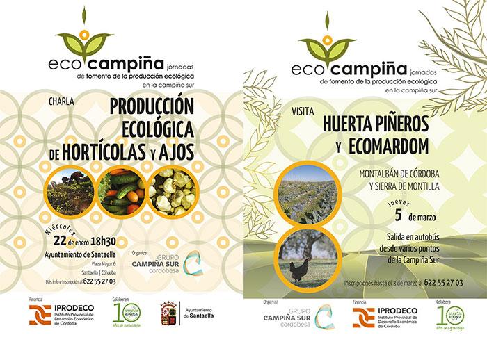 Dos de los carteles diseñados para la Jornada EcoCampiña